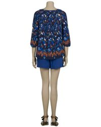 Tibi | Blue Silk Shorts | Lyst