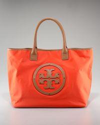 Tory Burch | Orange Logo Nylon Tote | Lyst