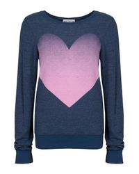Wildfox | Big Pink Heart Beach Jumper | Lyst