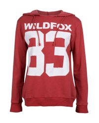 Wildfox | Red 83 Hoodie | Lyst