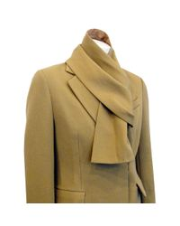 3.1 Phillip Lim | Beige Single Breasted Coat with Scarf | Lyst