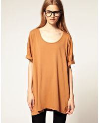 American Apparel | Natural Big T Shirt | Lyst