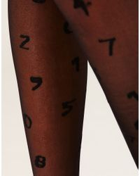 ASOS Collection - Black Asos All Over Number Tights - Lyst