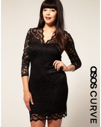 ASOS Collection | Black Asos Curve Exclusive Katie Lace Dress | Lyst