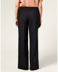 ASOS Collection - Black Asos Curve Wide Leg Trousers - Lyst