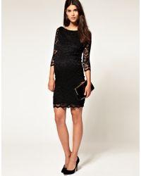 ASOS Collection - Black Asos Maternity Lace Dress - Lyst