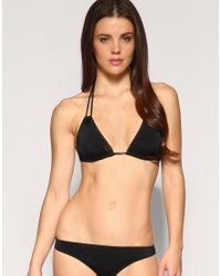 ASOS Collection - Black Asos Mix and Match Double Loop Strap Triangle Bikini Top - Lyst