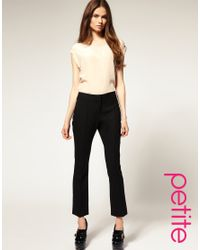 ASOS Collection | Black Asos Petite Cropped Flare Trouser | Lyst