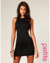 ASOS Collection | Black Asos Petite Cut Out Shift Dress | Lyst