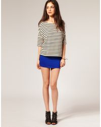 ASOS Collection | Blue Asos Jersey Micro Mini Skirt | Lyst