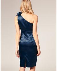 ASOS Collection - Blue Asos Petite Exclusive Corsage One Shoulder Dress - Lyst