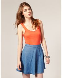 ASOS Collection | Orange Asos Simple Vest | Lyst