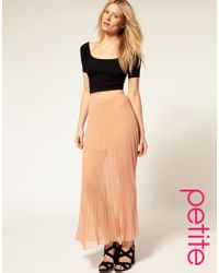 ASOS Collection | Blue Asos Petite Pleated Maxi Skirt | Lyst