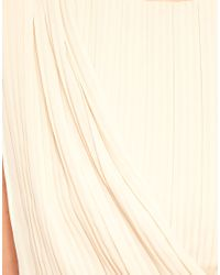 ASOS Collection - Natural Asos Maternity Pleated Dress with Drape Front - Lyst