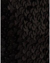ASOS - Black Bandeau Sequin Skirt Dress - Lyst