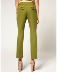 ASOS Collection - Green Asos Petite Cropped Flare Trouser - Lyst