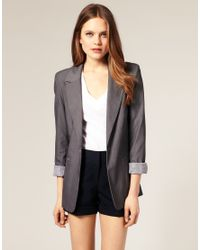 ASOS Collection - Gray Asos Boyfriend Blazer - Lyst