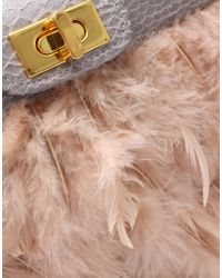 ASOS Collection - Natural Asos Nude Feather Clutch - Lyst