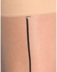 ASOS Collection - Natural Asos Nude with Black Seam Stockings - Lyst
