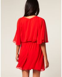 ASOS Collection | Red Asos Petite Chiffon Kaftan Dress | Lyst