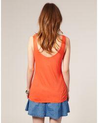 ASOS Collection - Orange Asos Simple Vest - Lyst
