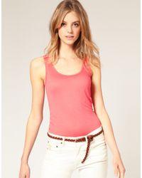 ASOS | Pink Basic Longline Vest | Lyst