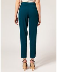 ASOS Collection - Green Asos Petite Exclusive Peg Trousers with Pleat Front - Lyst