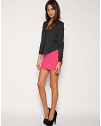 ASOS Collection | Pink Asos Jersey Micro Mini Skirt | Lyst