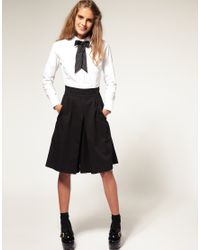 ASOS Collection - White Asos Peter Pan Collar Fitted Shirt - Lyst