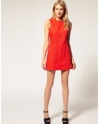 ASOS Collection | Orange Asos Petite Exclusive 60 S Textured Shift Dress | Lyst