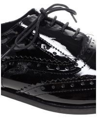 ASOS - Black Asos Marky Patent Leather Traditional Brogues - Lyst
