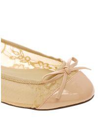 ASOS | Natural Asos Lace Bow Ballet Pump | Lyst