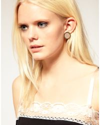 House of Harlow 1960 | Metallic 14ct Yell Gold Plated Sunburst Button Earrings | Lyst