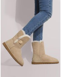 Ugg | Gray Bailey Button Side Boots | Lyst