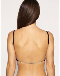 Ultimo | Black Miracle A D Diamante Back Bra With Removable Gel Pads | Lyst