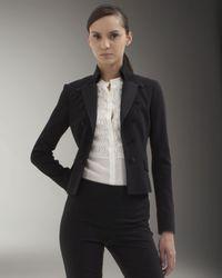 Akris Punto   Black Short-back Tuxedo Jacket   Lyst