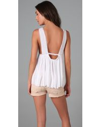Free People | White The New Romantics Lattice Bare Back Babydoll | Lyst