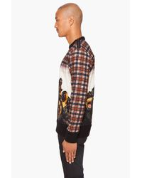 Givenchy - Brown Plaid Rottweiler Sweater for Men - Lyst