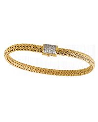 John Hardy | Metallic Classic Chain 18k Gold & Diamond Extra-small Bracelet | Lyst