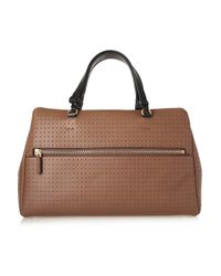 Marni - Brown Perforated-leather Tote - Lyst