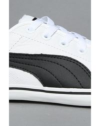 PUMA | The Benecio Leather Sneaker in White and Black for Men | Lyst