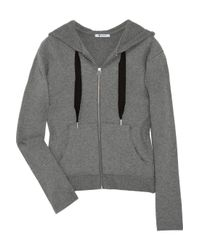 T By Alexander Wang | Gray Cross-over Back Cotton-jersey Jacket | Lyst