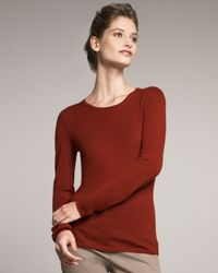 TSE | Red Super-fine Cashmere Top, Cherry | Lyst