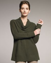 TSE | Green Cowl-neck Sweater | Lyst