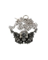 Femme Metale Jewelry | Metallic Day Of The Dead Necklace | Lyst
