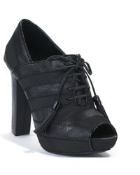 Juicy Couture - Fredo - Black Leather Open Toe Bootie - Lyst
