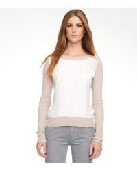 Tory Burch - Natural Abigail Sweater - Lyst