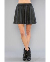 Free People   Black The Vegan Leather Pleated Skirt   Lyst