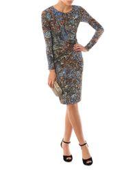 Max Mara Studio | Multicolor Long Sleeve Floral Dress | Lyst