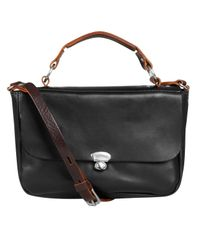 Ally Capellino | Black Lorraine Mini Satchel Bag | Lyst